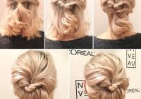 Stylish rolled updo hairstyle diy short hairstyle ideas ecemella Hairstyle Ideas With Short Hair Inspirations