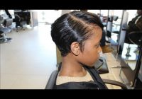 Stylish salon work meagan good inspired cut from natural to relaxed Megan Good Short Hair Styles Ideas