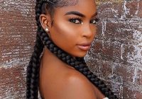 Stylish simple and elegant beautiful cornrows lovely make up Lovely Braided Hairstyle For Black Women Inspirations