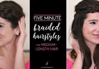 Stylish these braided hairstyles for medium hair take 5 minutes or less Quick Braided Hairstyles For Medium Hair Ideas