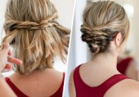 Stylish this quick messy updo for short hair is so cool short hair Diy Hairstyles For Short Hair With Bangs Inspirations