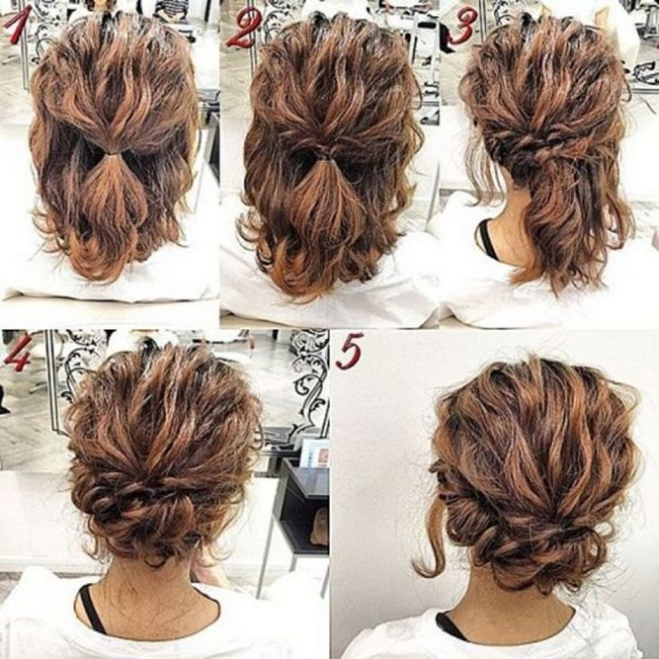 Permalink to 11 Elegant Quick Updos For Short Wavy Hair Ideas
