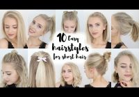 Trend 10 easy hairstyles for short hair youtube Easy Hair Style For Short Hair Ideas