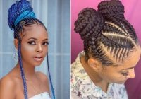 Trend 23 braided bun hairstyles for black hair stayglam Braided Bun Hairstyle AfricanAmerican