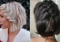 Trend 23 quick and easy braids for short hair stayglam Cute Hairdos For Short Hair Braids Choices