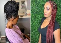 Trend 23 ways to wear and style knotless braids stayglam Styles For Packing Braided Hair Ideas