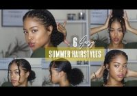 Trend 6 easy no braid natural hairstyles perfect for summer 2019 Simple Hairstyles Natural African American Hair Ideas