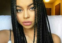 Trend box braids with two small bun box braids styling braided Hair Styles For Box Braids Choices