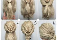 Trend but leave the braid down long hair styles hair styles Easy Braided Updos For Shoulder Length Hair Inspirations
