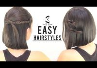 Trend easy hairstyles for short hair Cute Hairstyles To Do At Home For Short Hair Ideas