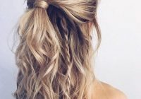 Trend half up half down hairstyle hair styles medium length Half Up Half Down Braided Hairstyles Pinterest Inspirations