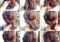 Trend headband twist without the headband this is so cute and Cool Easy Updos For Short Hair Ideas