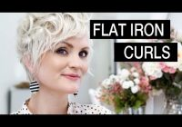 Trend how to style short hair flat iron curls Styling Short Hair With Flat Iron Ideas