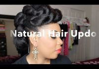 Trend natural hair updo with braiding hair tutorial black hair Styles With Braiding Hair Choices