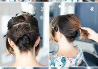 Trend pretty simple updo for short hair camille styles Cute Bun Hairstyles For Short Hair Ideas
