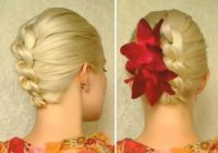 Trend prom wedding bridal updo hairstyle tutorial for long hair Wedding Prom Hairstyle For Long Hair Updo Tutorial With Braided Flowers Choices