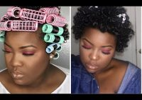 Trend roller set on twa short natural hair curly afro Roller Set Styles For Short Hair Inspirations