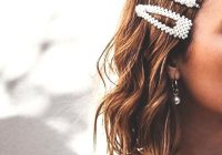 Trend short hairstyles for wedding pearl hair clip ecemella Hair Clips For Short Hair Styles Choices