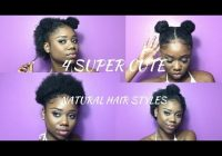 Trend super cute hairstyles for short natural hair half up Styles To Do With Short Natural Hair Choices