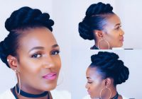 Trend twisted updo on short natural hair Updo Styles For Short Natural Hair Choices